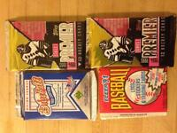 Hockey and baseball cards frome the 90s.