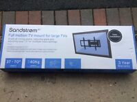 "Sandstrom SFML16 Full Motion TV Wall Mount 37"" to 70"" LCD Plasma 4K TVs RRP £199"