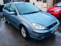 FORD FOCUS AUTOMATIC 1.6 PETROL 5 DOORS HATCHBACK BLUE ALLOYS ZETEC 2003
