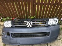 Vw t5.1, t5, facelift, transporter headlights grill and bumper