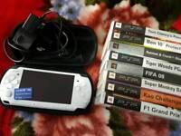 Sony psp 3000 slim ice white 2gb + 8 games