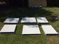 6 x Convector Radiators - various sizes, reasonable condition