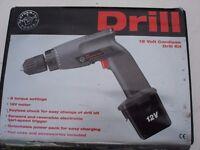 CORDLESS DRILL KIT 12V AS NEW
