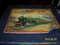 hornby 1950s clock work train set