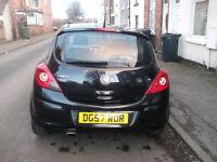 2008 Vauxhall Corsa 1.4 SXi 3-Door Black 57 Plate