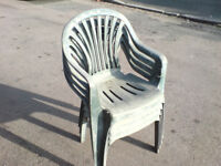 6 stacking garden chairs