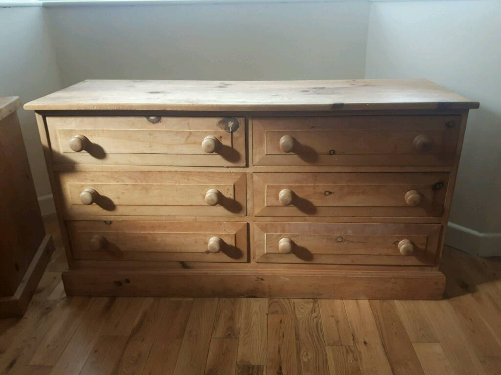 6 draw pine chest