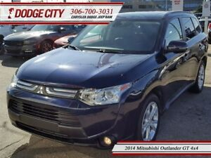 2014 Mitsubishi Outlander GT   4x4   PST Paid - Heated Leather,