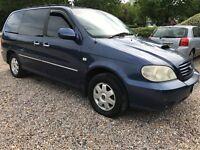 KIA Sedona SE 2902cc Diesel Automatic 7 seat estate 53 Plate 05/09/2003 Blue