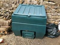 Titan Plastic All Weather Coal Bunker 600kg Capacity