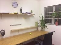 Desk / Office Space in Stoke Newington Studio, £195 per month, roof terrace w/ BBQ! Bills included