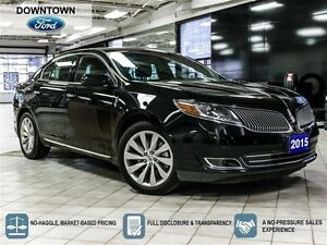 2015 Lincoln MKS AWD, One Owner trade in, Navigation, Blind spot
