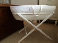 Moses basket and stand (from The White Company)