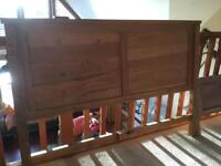 One solid oak, double bedstead for sale. Beautiful, excellent condition. Robust,like new