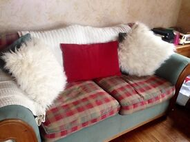 2 x 3 seater sofas and armchair excellent condition