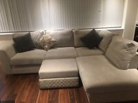 Corner Sofa, king size bed frame, table & chairs, a lot of furniture under 1 year old for sale!!