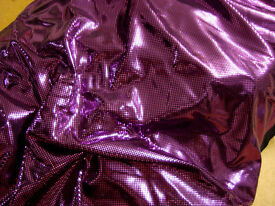 Gorgeous Shiny Purple Lycra Dancewear Fabric - £5 per metre