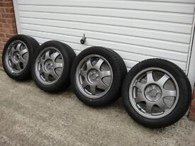 Toyota Prius Genuine Alloy Wheels - Complete With 4 Tyres - 16 Inch - 195 55 16 Tyres