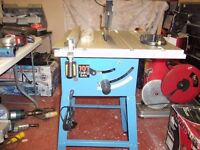 """10"""" clarke table saw on its stand"""