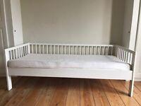 Ikea white children's bed with mattress