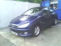 PEUGEOT 206 DIESEL 1.4 HDI LONG MOT £ 30 ROAD TAX A YEAR PX WELCOME