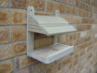 NEW - quality handmade bird table / feeding station for wall or fence by DJW Woodcraft