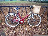 """Vintage Ladies Town Bicycle. Brand New Basket. Fully Serviced & Ready To Ride. Guaranteed. 19"""" Frame"""