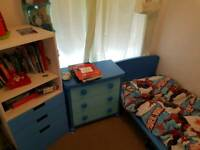 Blue ikea 4 piece childrens bedroom set