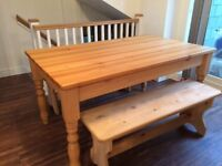 Solid pine table (benches not included)