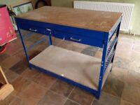 workbench - boltless metal frame with 2 drawers, MDF top and shelf