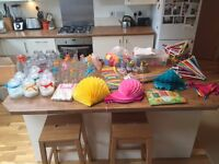 Colourful Wedding Decoration Bundle - Party decorations, paper honeycombs, bunting, confetti