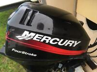 Mercury 15HP Four Stroke Outboard Boat Engine, Electric Start with Controls / Fuel Tank