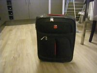"WENGER CABIN SIZED SUITCASE. SWISS HIGH QUALITY and DURABLE. BLACK. 18"" X 13"" X 8"". RARELY USED."