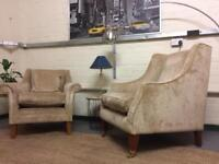 Two Laura Ashley Armchairs in Villandry Champagne RRP £822 each