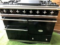 Stunning Lacanche Range cooker Simmerplate Macon Oven Black and chrome INC VAT