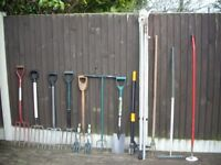 GARDEN TOOLS GALORE FROM ONLY £2 EACH .