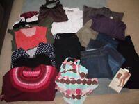 Large bundle of maternity clothes, size 12/14, M.