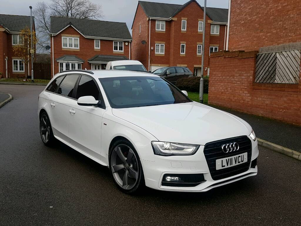 2011 audi a4 avant 2 0 tdi s line black edition spec auto estate white facelift in dewsbury. Black Bedroom Furniture Sets. Home Design Ideas