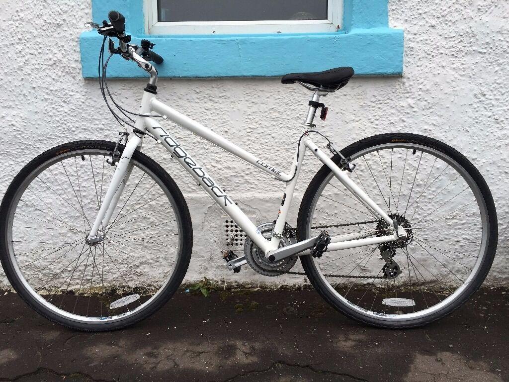 White Ridgeback Comet 14 Ladies Bike 19 Frame Xl Cycle Helmet