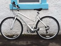 "White Ridgeback Comet 14 Ladies Bike 19"" Frame + XL Cycle Helmet. Nearly new."