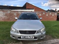 Lexus IS 200 2.0 S 4dr p/x welcome 2003 Saloon 95,000 miles Manual Petrol+One Year MOT+HPI Clear+FSH