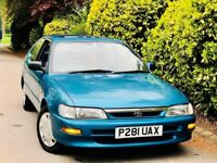 **AC+LOW MILES** TOYOTA COROLLA 1.3 SOLAIRSE + 12M MOT + PREV LDY OWNER + AIRCON + 2KEY VERY CLEAN