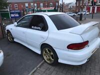 Rare Subaru Impreza Type Ra close deck block