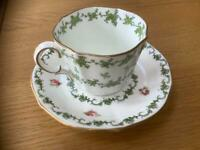 Vintage royal crown derby china cup and saucer