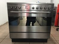 Smeg electric cooker 90cm ceramic stainless steel 3 months warranty free local delivery!!!!!!