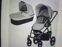 Britax smile carrycot and pushchair in silver