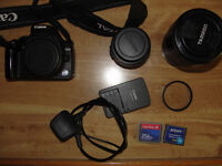 Canon 350d DSLR Camera plus Extras