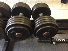 Pair of 45kg Dumbbells