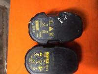 Dewalt faulty batteries x2