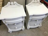A beautiful pair of bedside cabinets